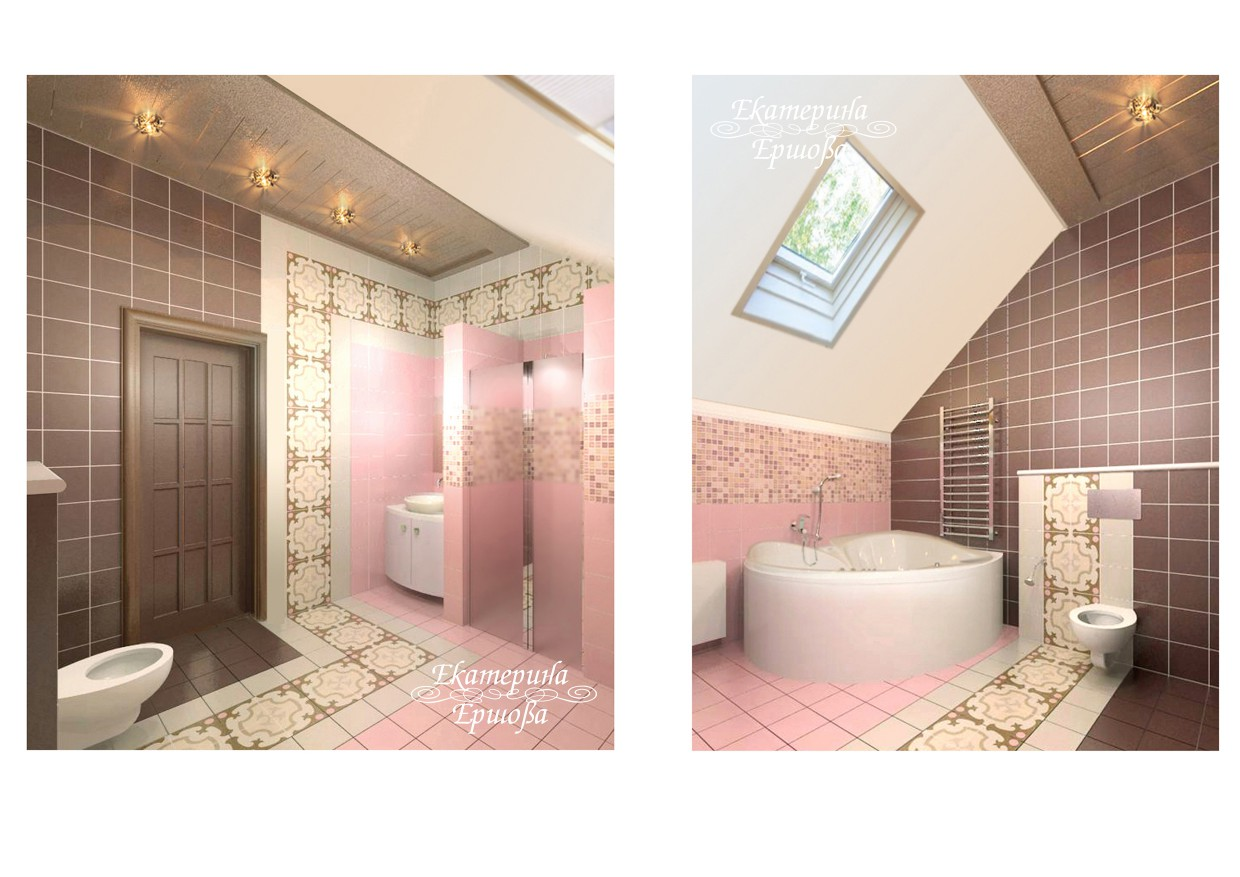 3d visualization of the project in the Children's WC Other thing, render Other of Eкатерина