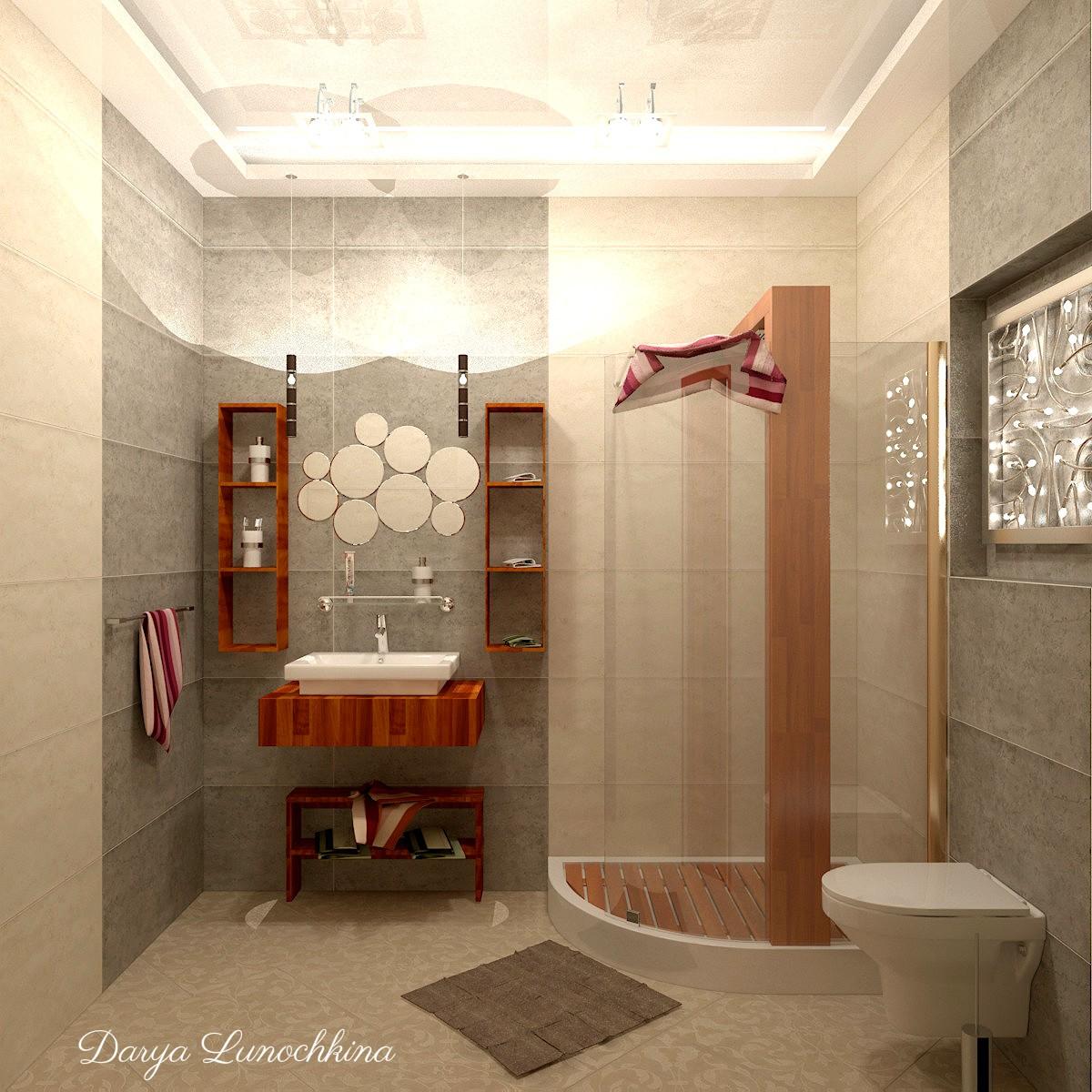 Ванная комната в 3d max vray изображение