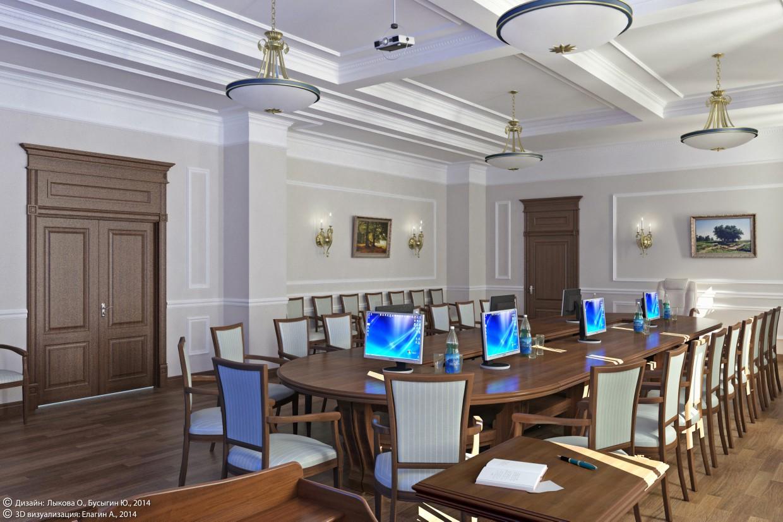 Зал нарад в Православному інституті (Тольятті) в 3d max vray зображення