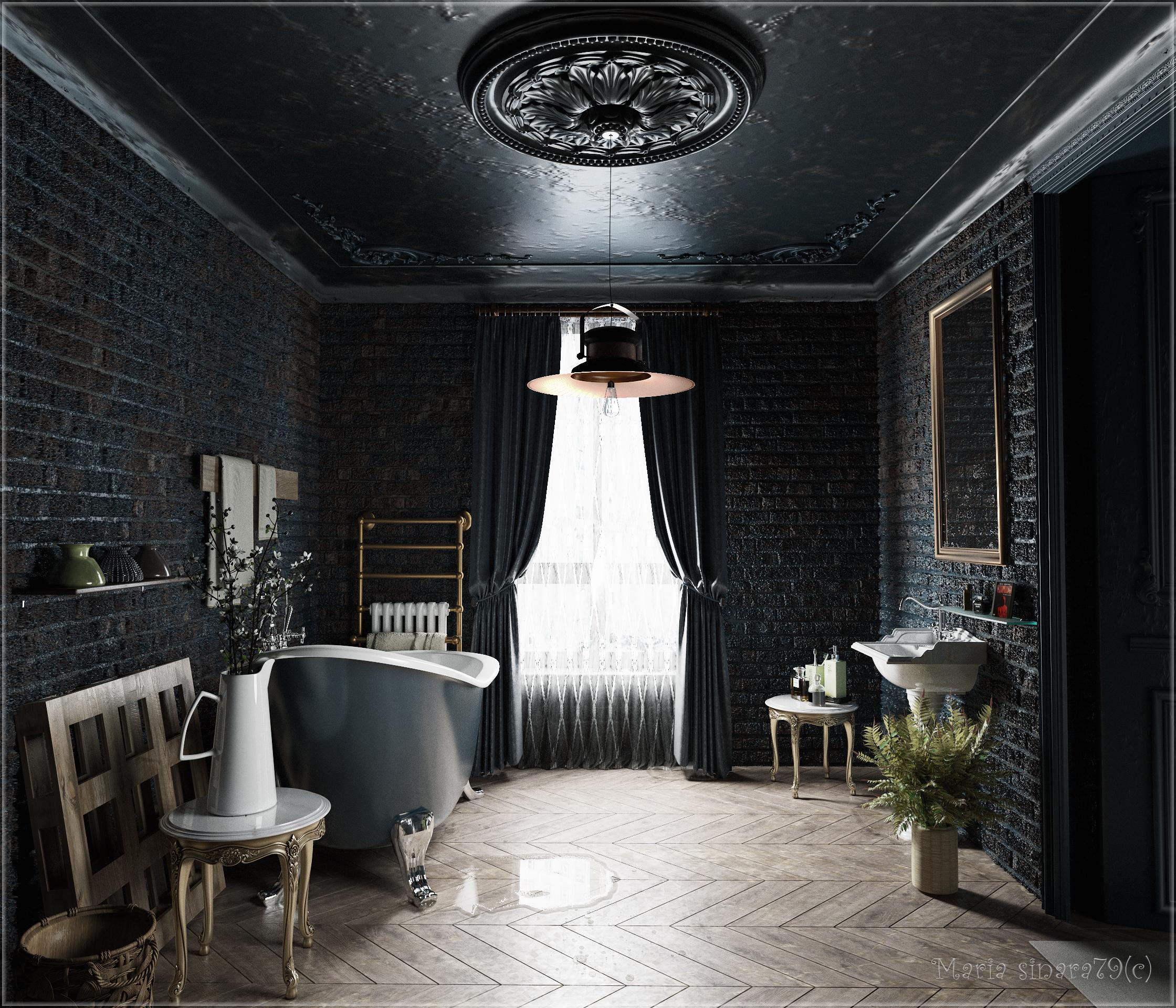 Bathroom in 3d max corona render image