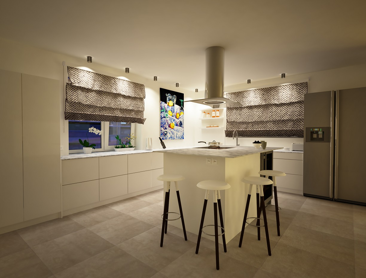 Kitchen in the country house  in  3d max   vray  image