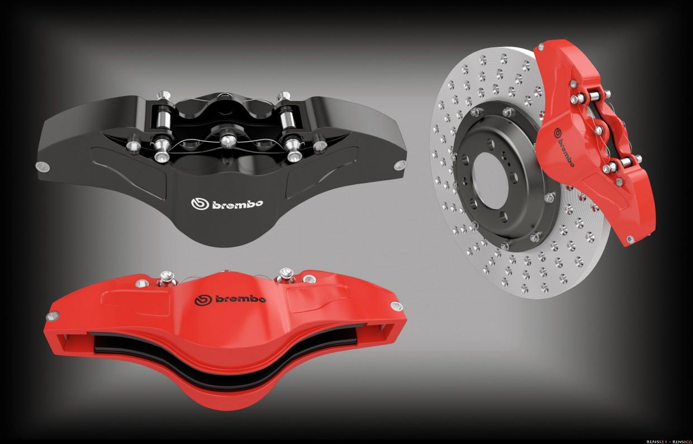 Brembo brakes in 3d max vray image
