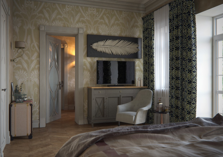 Дом в 3d max corona render изображение
