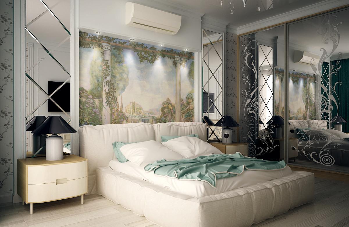 Women's bedroom in 3d max vray 2.0 image