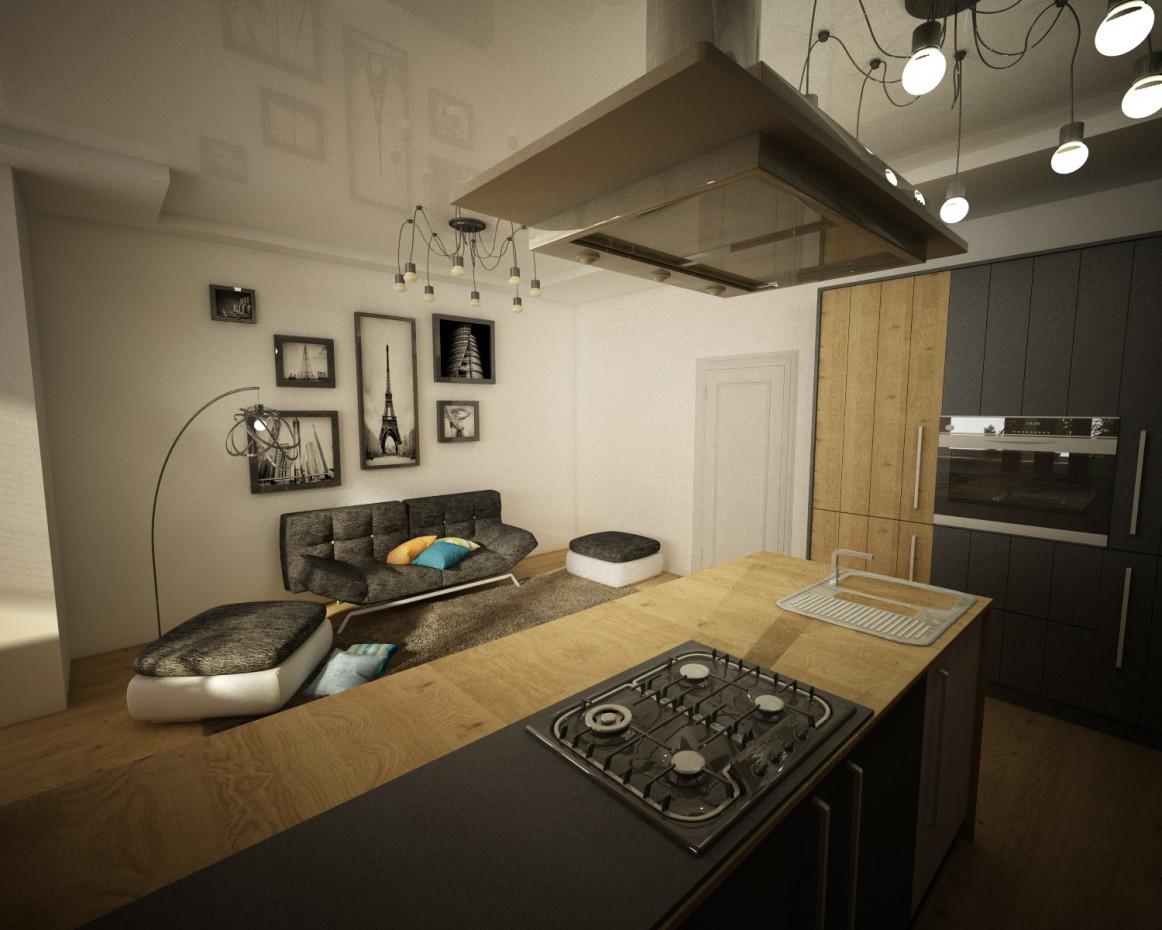 imagen de Diseño de un apartamento de una habitación en Cinema 4d vray
