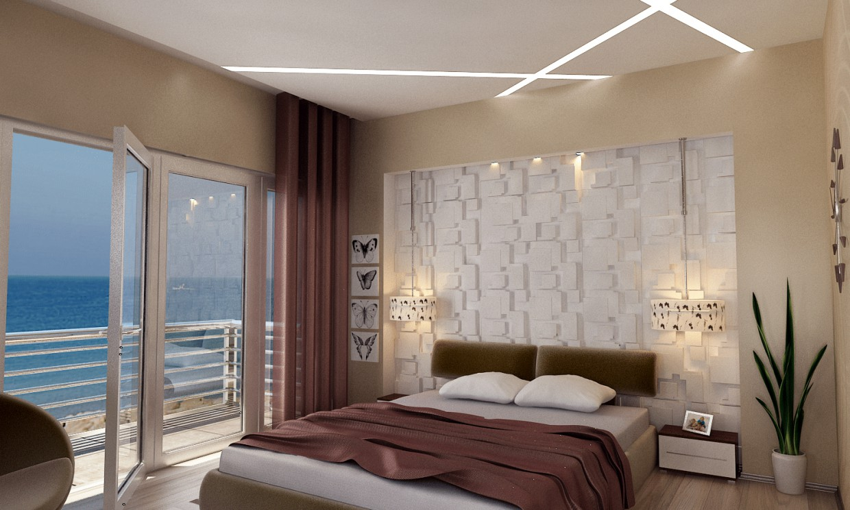 Современная спальня в 3d max vray 2.0 изображение