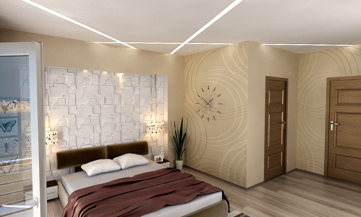 Modern Bedroom in 3d max vray 2.0 image