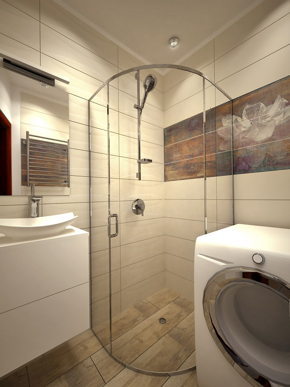 Bathroom with tiles Paradyz in 3d max vray image