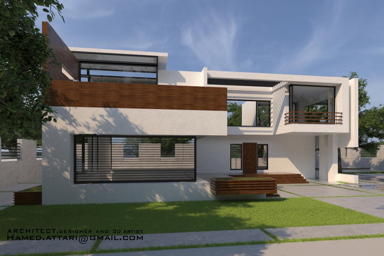 Villa in 3d max vray 3.0 image