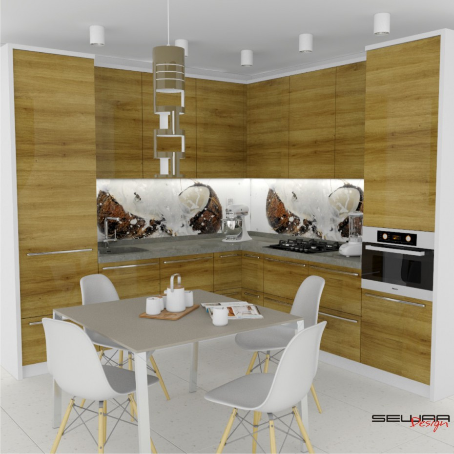Kitchen set  in  3d max   vray  image