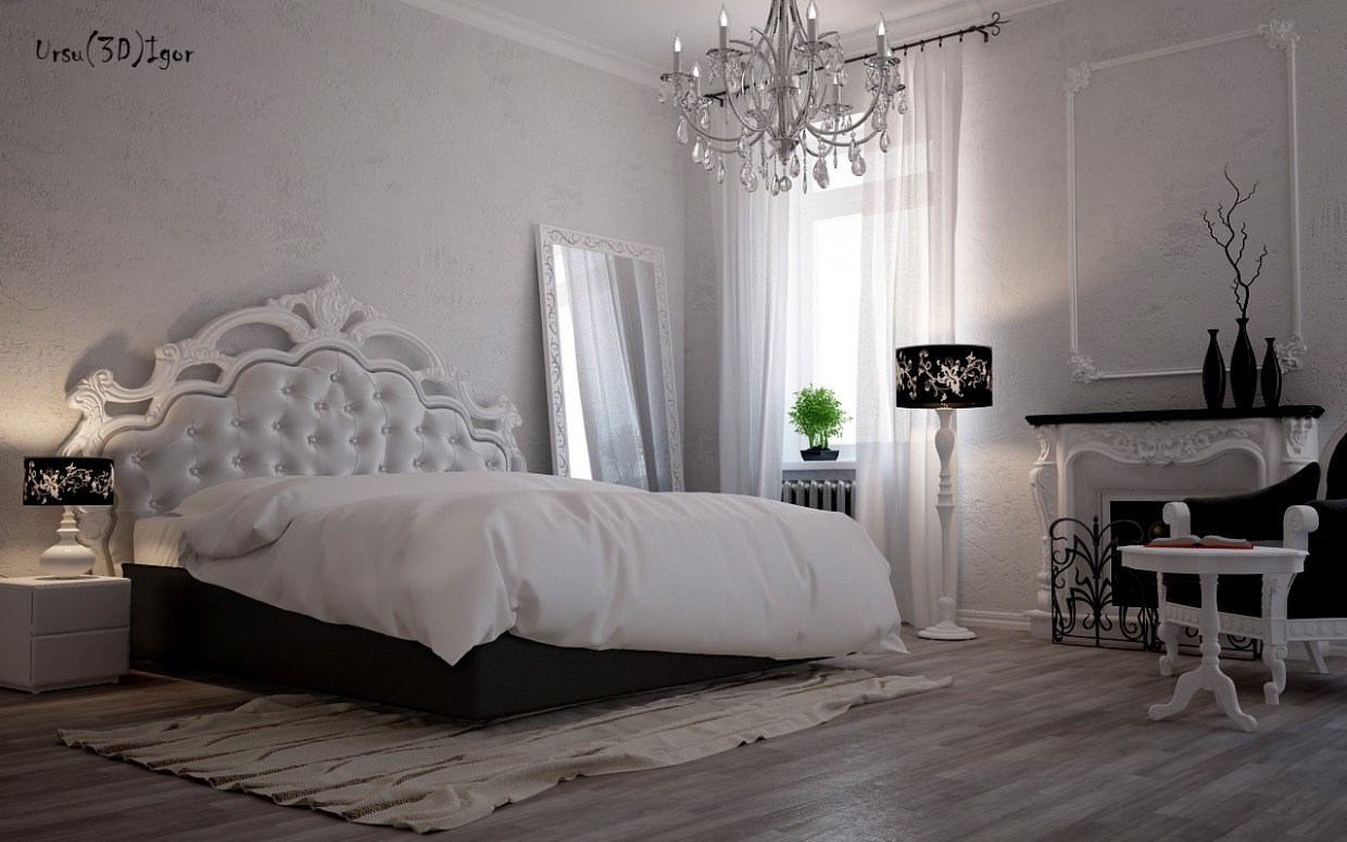 3d visualization of the project in the Bedroom (art deco) 3d max, render vray of Урсу Игорь