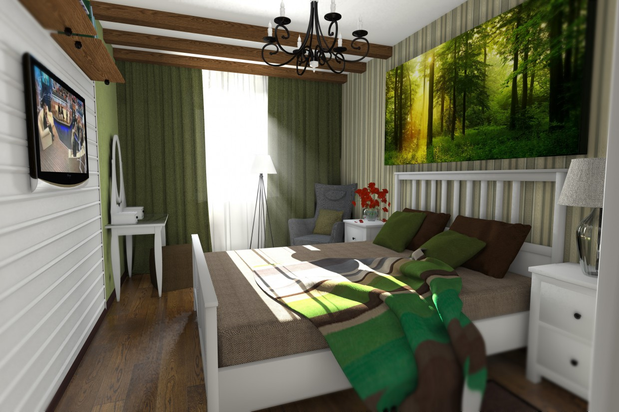 3d visualization of the project in the Bedroom for a young couple Other thing, render Other of Charisma313