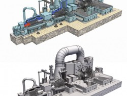 Model turbine power plant
