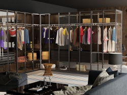 villa glass master wardrobe