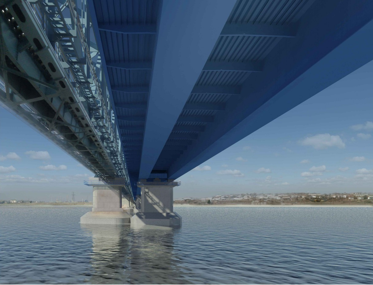 Bridge in Turkmenistan (between Atamurat and Kerkeci) in Other thing vray image