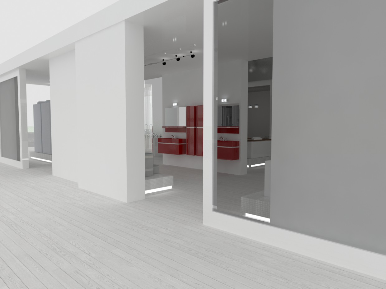 Stands in 3d max vray image