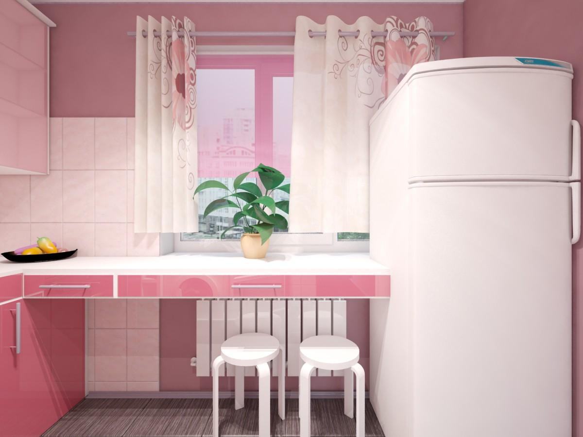 imagen de pequeña cocina en 3d max vray