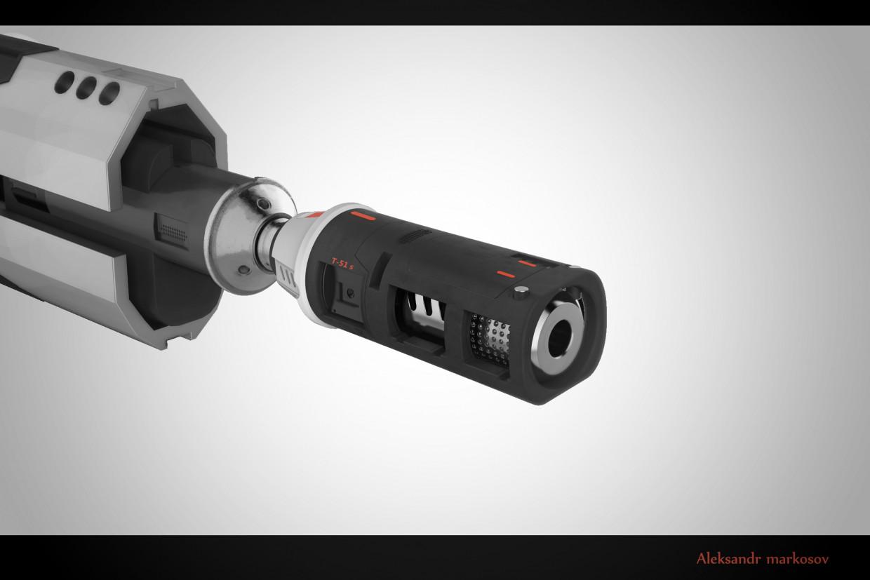 visualización 3D del proyecto en el Rifle 3d max render Other marko0306