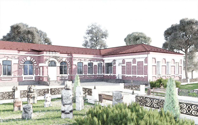 Museum in 3d max corona render image
