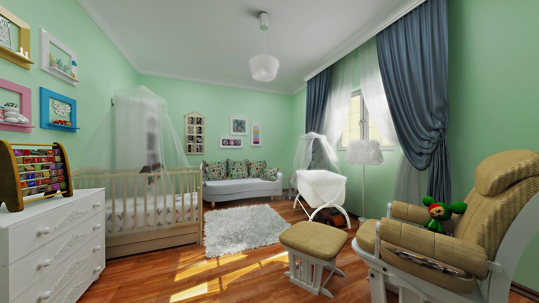 Children's room  in  3d max   vray  image