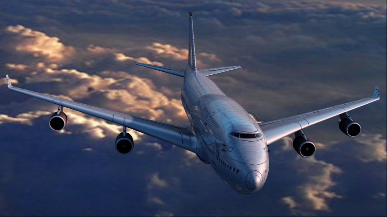 Boeing 747 in Cinema 4d vray 2.5 image