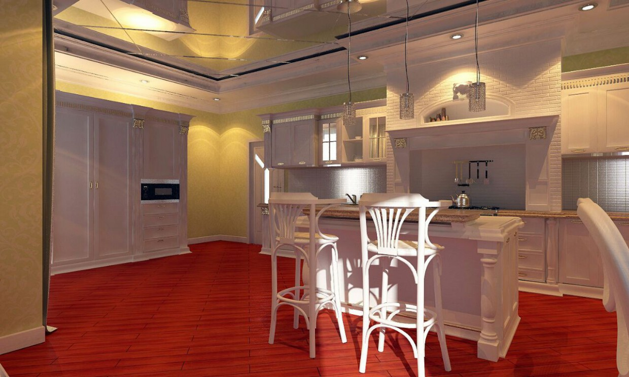 Classic kitchen in 3d max vray 2.0 image