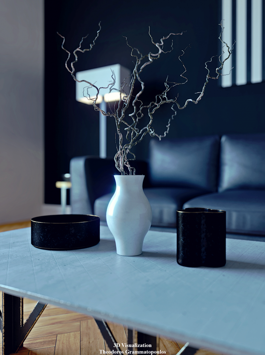 3D visualization in 3d max corona render image