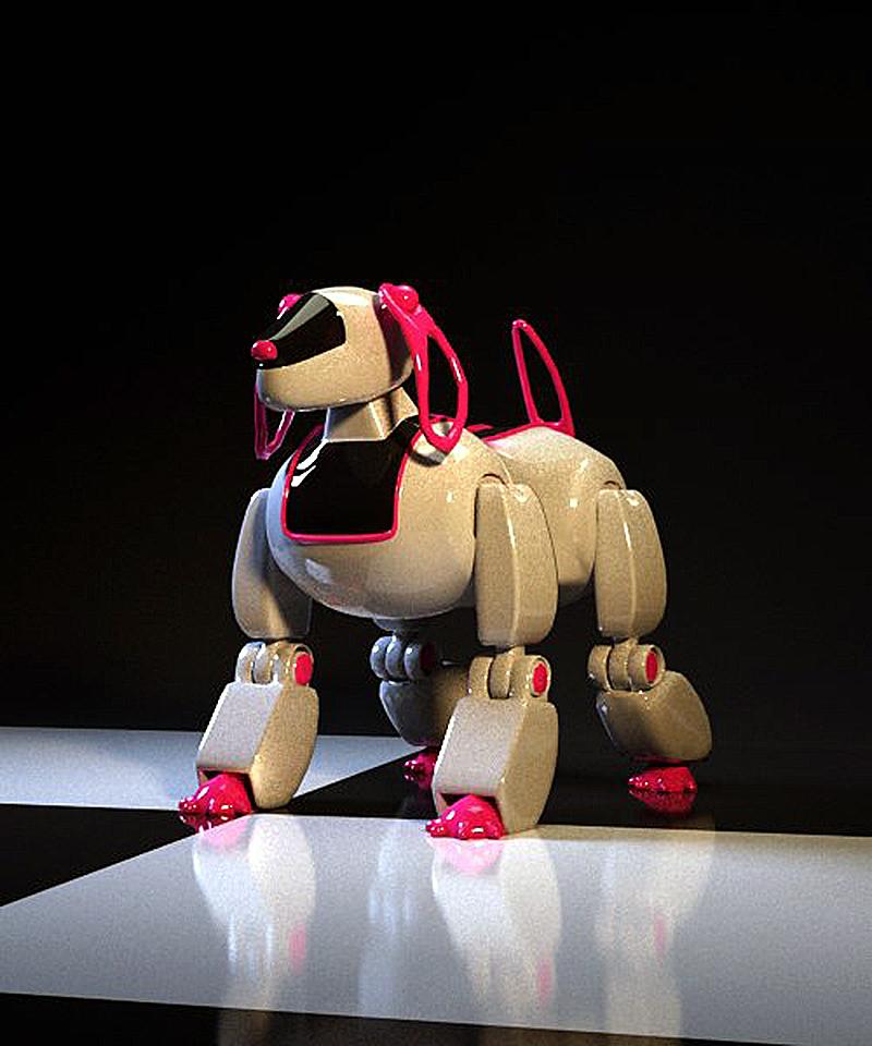 dog robot in 3d max corona render image