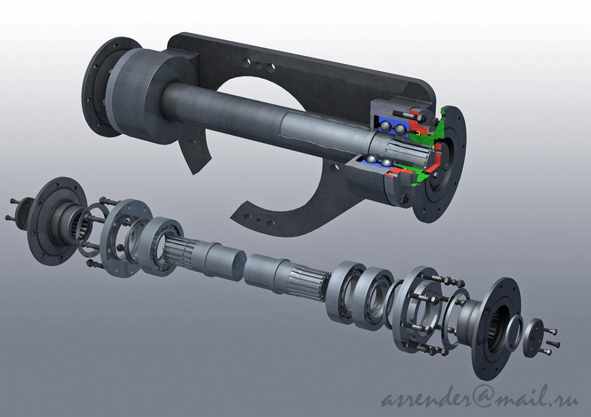 visualización 3D del proyecto en el De la ingeniería 3d max render FinalRender asrender