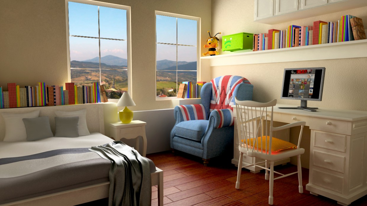 Child room in 3d max vray image