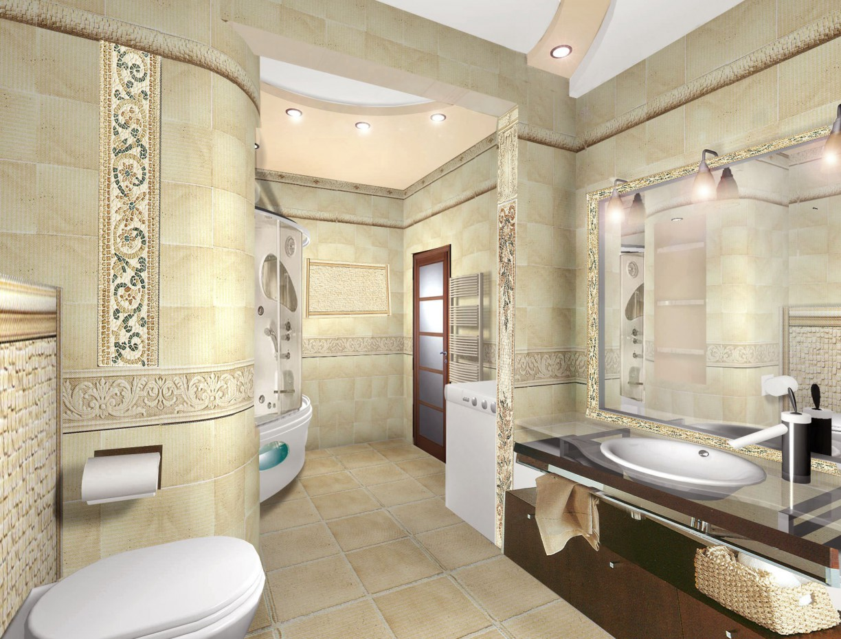 Bathroom in 3d max vray image
