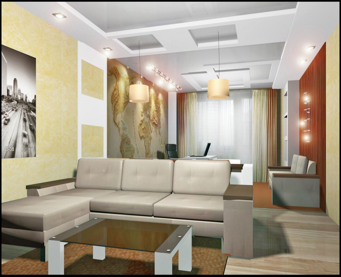 3d visualization of the project in the Flat 3d max, render vray of Светлана knysh