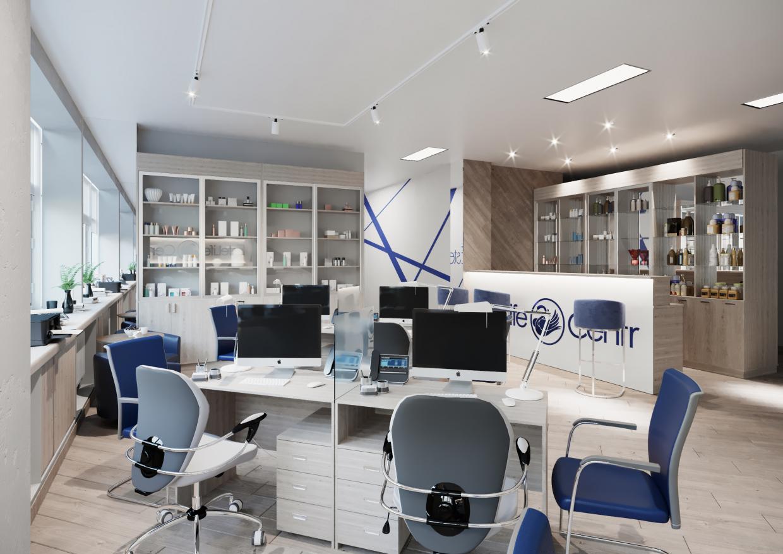 Modern Office 3D Archvis in 3d max corona render image