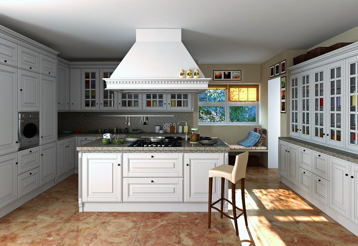3d visualization of the project in the kitchen 3d max, render vray 3.0 of Pavel Zazulin
