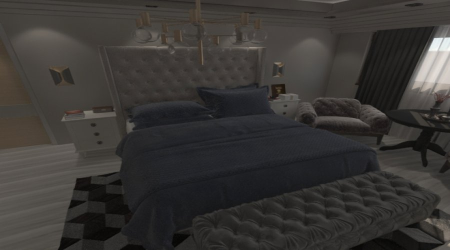 Bedroom in 3d max vray 5.0 image