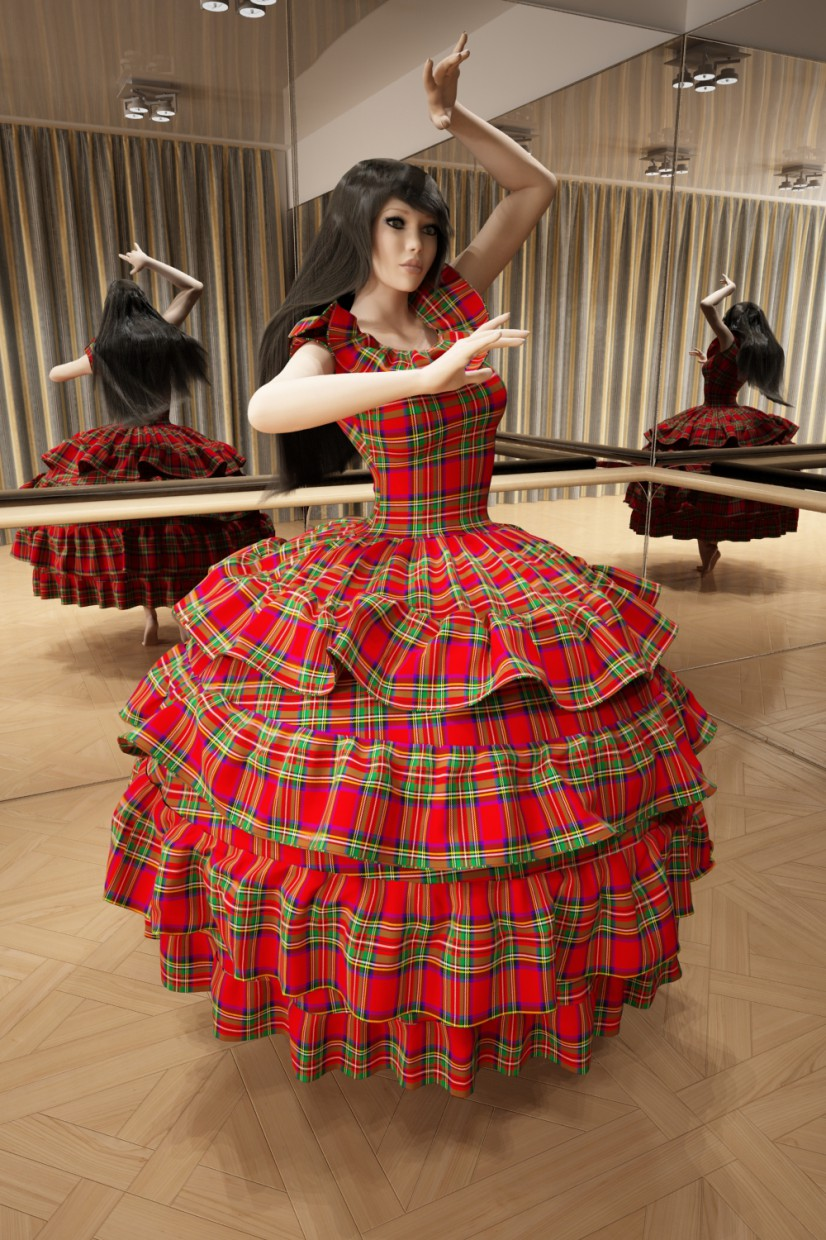 3d visualization of the project in the Dresses 3d max, render vray of Doroteya