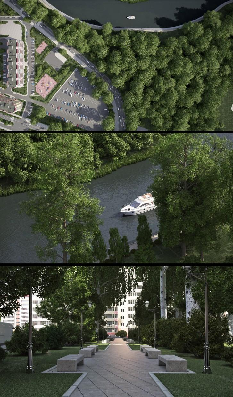 ЖК Флотский в 3d max vray изображение