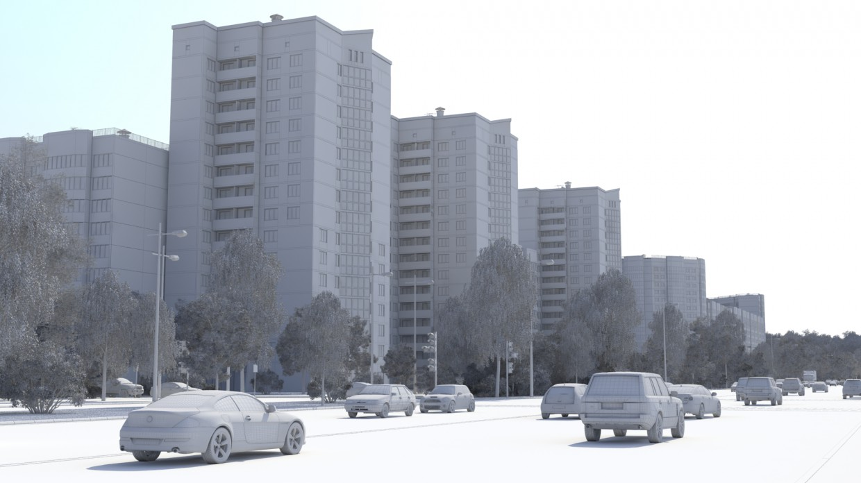 "The residential complex ""Flotski"" in 3d max vray image"