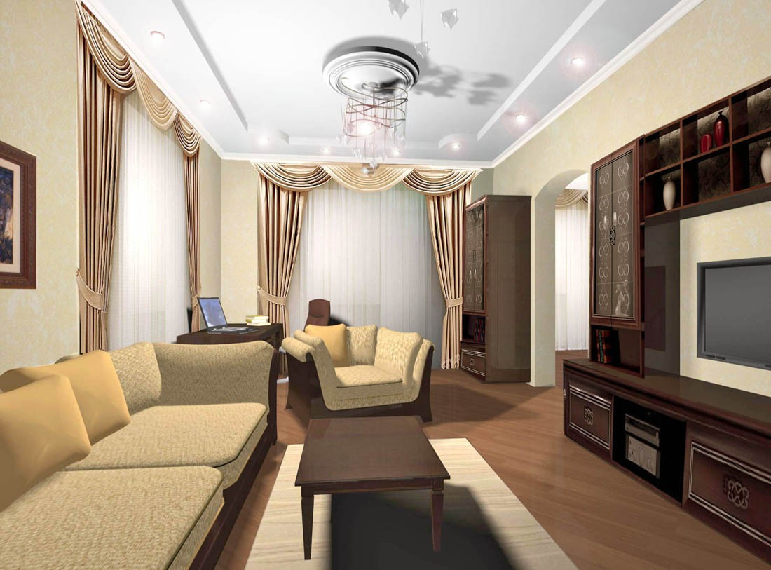 visualización 3D del proyecto en el Apartamentos 3d max render vray Светлана knysh