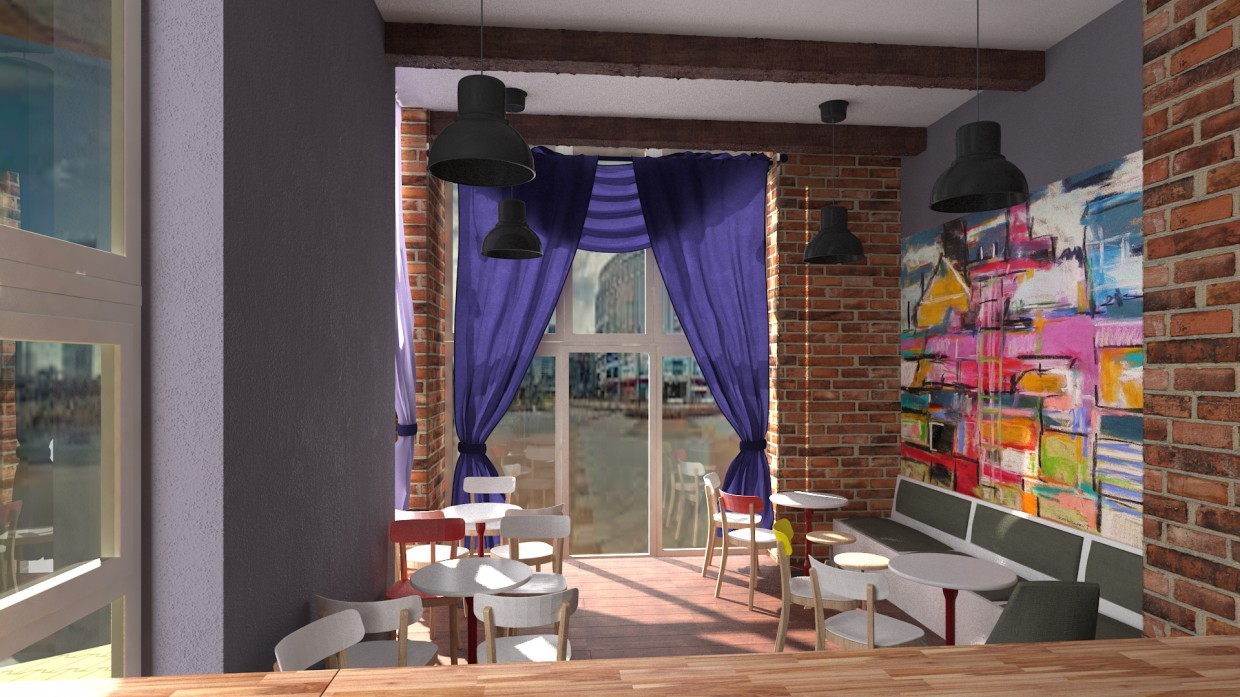 Bar in 3d max vray image