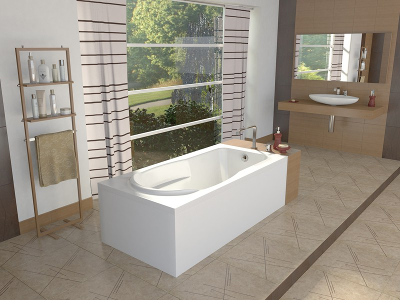 Visualization of the interior of the bath  in  Maya   mental ray  image