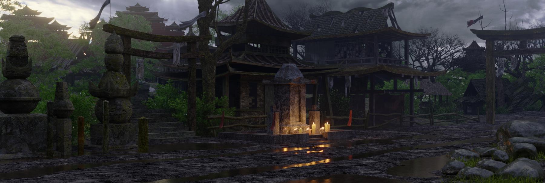 फुसफुसाते गांव Blender cycles render में प्रस्तुत छवि