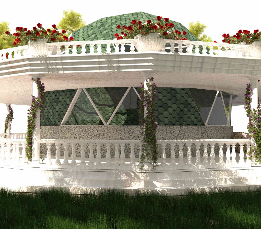 Cupola house style classicism design and visualization for Cupola house
