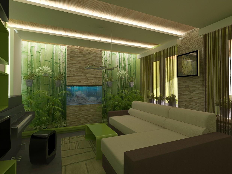 Зелёная комната в 3d max vray изображение