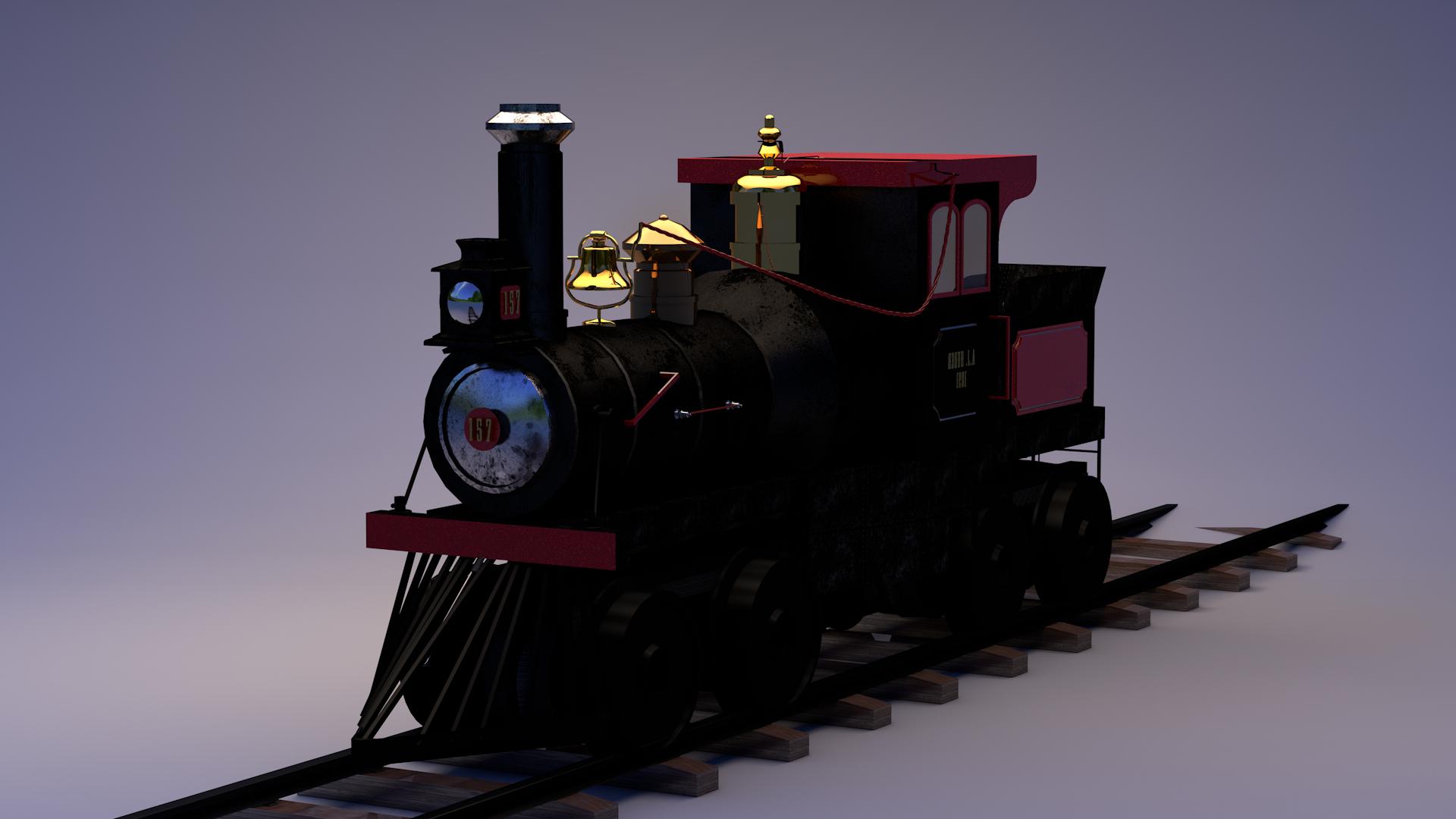паровоза залізниця в Cinema 4d maxwell render зображення