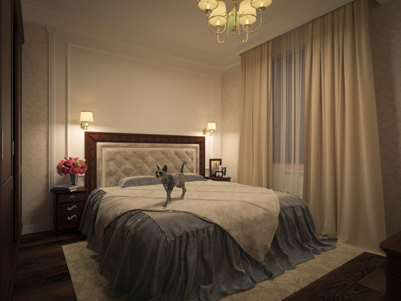 imagen de Dormitorio para una persona mayor en 3d max vray