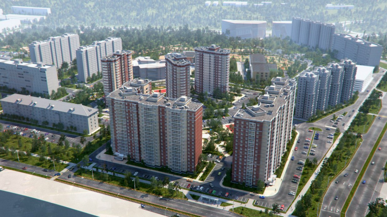 """imagen de El complejo residencial """"acogedor"""" en 3d max corona render"""