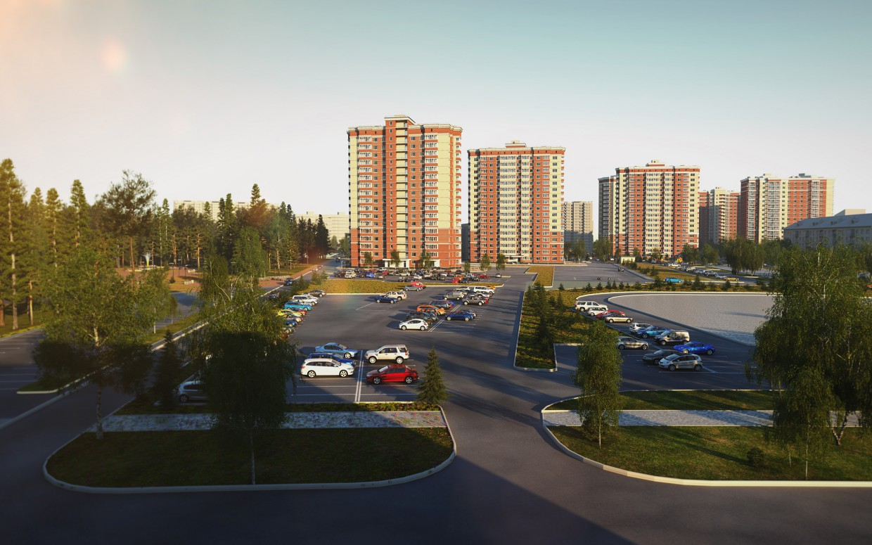 "3d visualization of the project in the The residential complex ""Cozy"" 3d max, render corona render of Nikolay FG1"