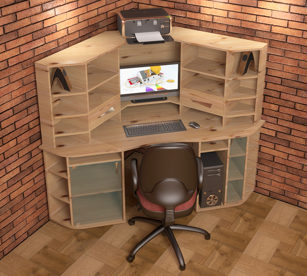 Computer table_20 in 3d max vray 3.0 image