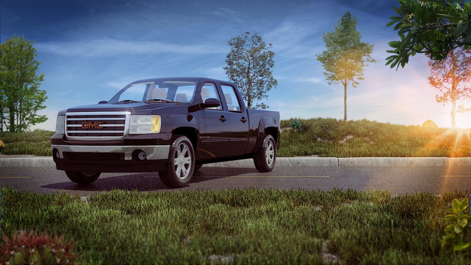 Gmc sierra in 3d max mental ray image